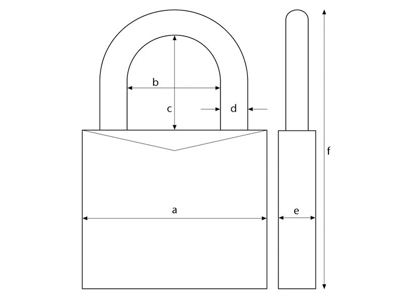 Thumbnail image of ABUS 54TI/40mm TITALIUM™ Padlock Carded