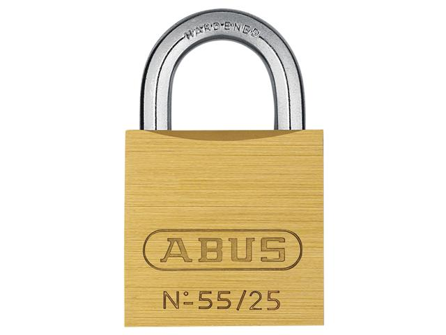 Thumbnail image of ABUS 55/25mm Brass Padlock Carded