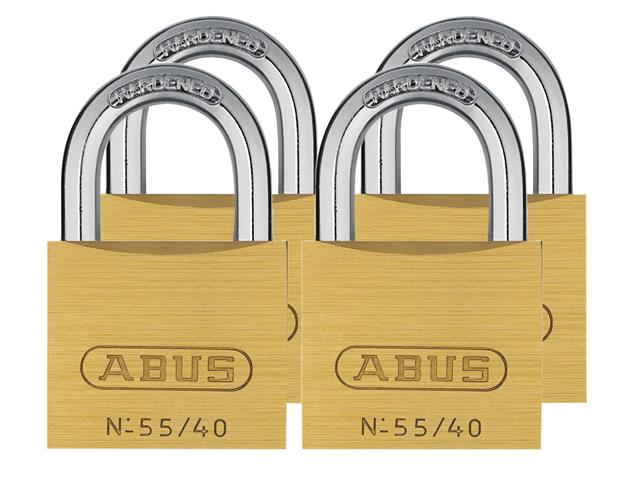 Thumbnail image of ABUS 55/40mm Brass Padlock Keyed Alike 5402
