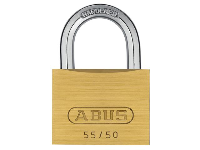 Thumbnail image of ABUS 55/50mm Brass Padlock Carded