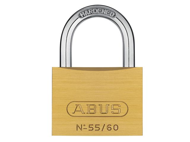 Thumbnail image of ABUS 55/60mm Brass Padlock Carded