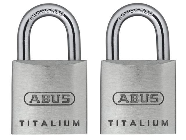 Thumbnail image of ABUS 64TI/20mm TITALIUM™ Padlock Carded Twin Pack