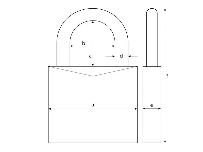 Thumbnail image of ABUS 64TI/40mm TITALIUM™ Padlock 63mm Long Shackle