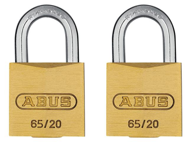 Thumbnail image of ABUS 65/20mm Brass Padlock Keyed Alike 204