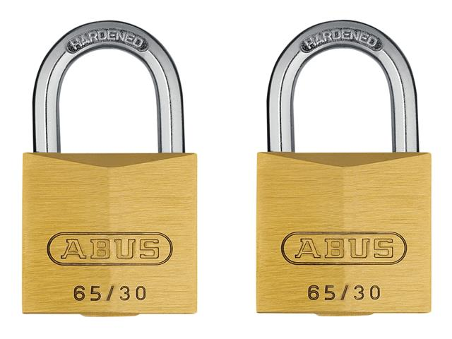 Thumbnail image of ABUS 65/30mm Brass Padlock Keyed Alike 305