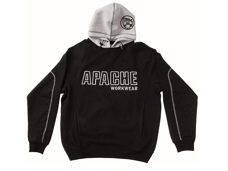 Thumbnail image of Apache Hooded Sweatshirt Black / Grey - XL (48in)