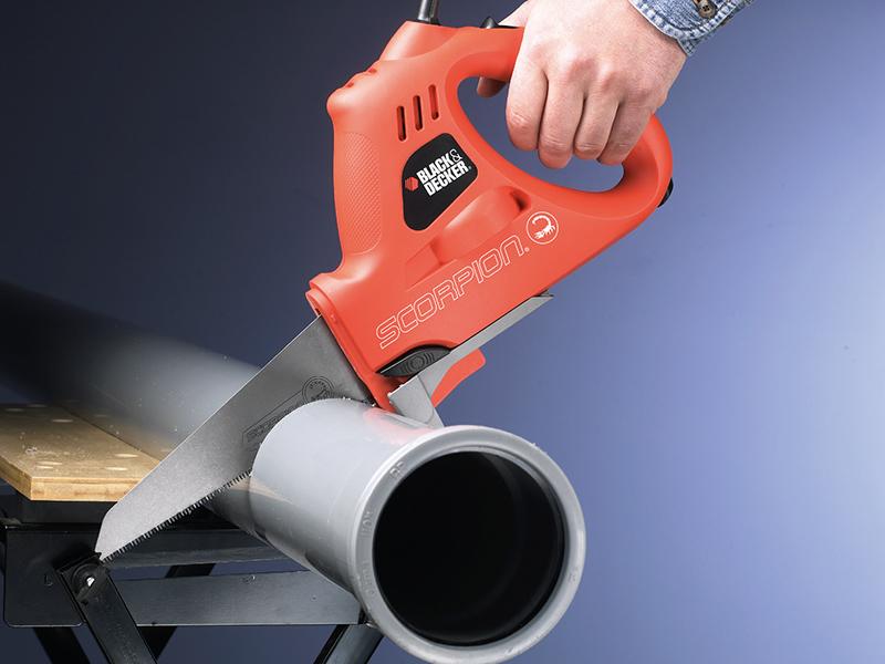 Thumbnail image of Black & Decker KS890EK Scorpion Powered Handsaw & Kitbox 400W 240V