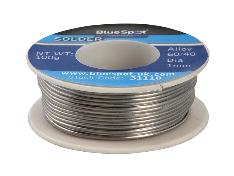 Thumbnail image of BlueSpot Flux Covered Solder 100g 60/40