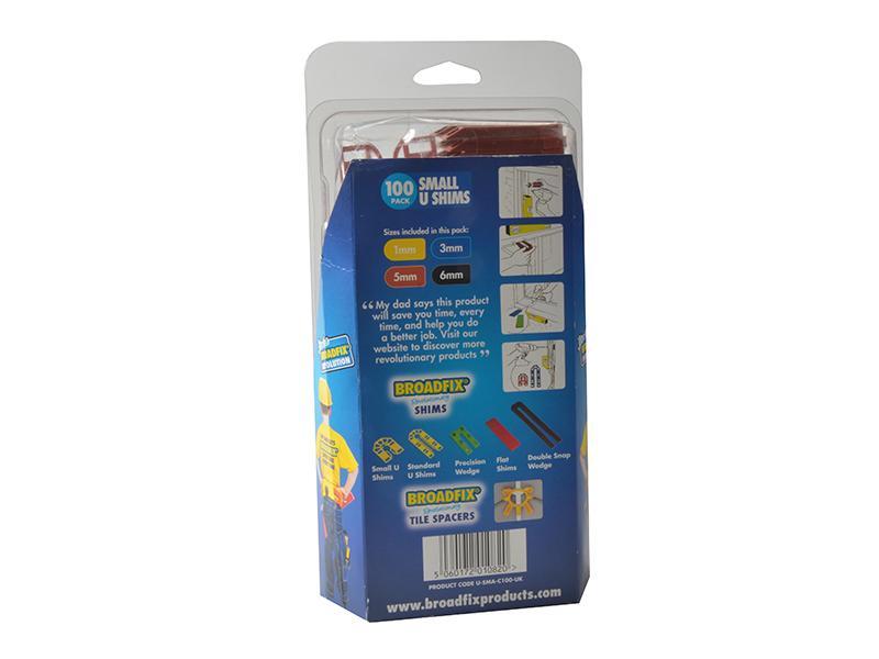 Thumbnail image of Broadfix Small U-Shim Mixed Clam (Pack 100)