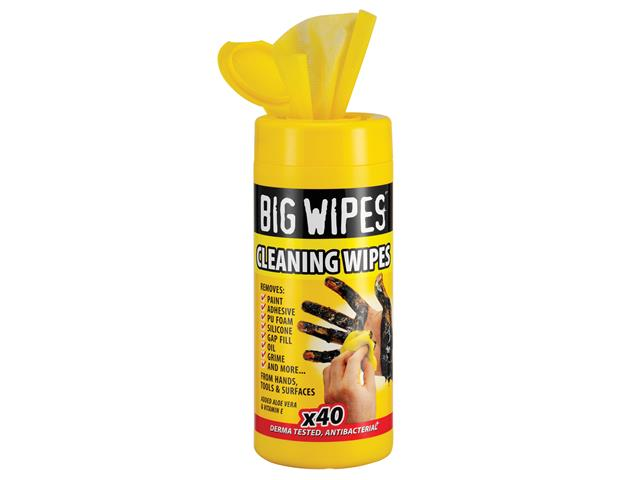Thumbnail image of Big Wipes Industrial Multi-Purpose Wipes (Tub 40)