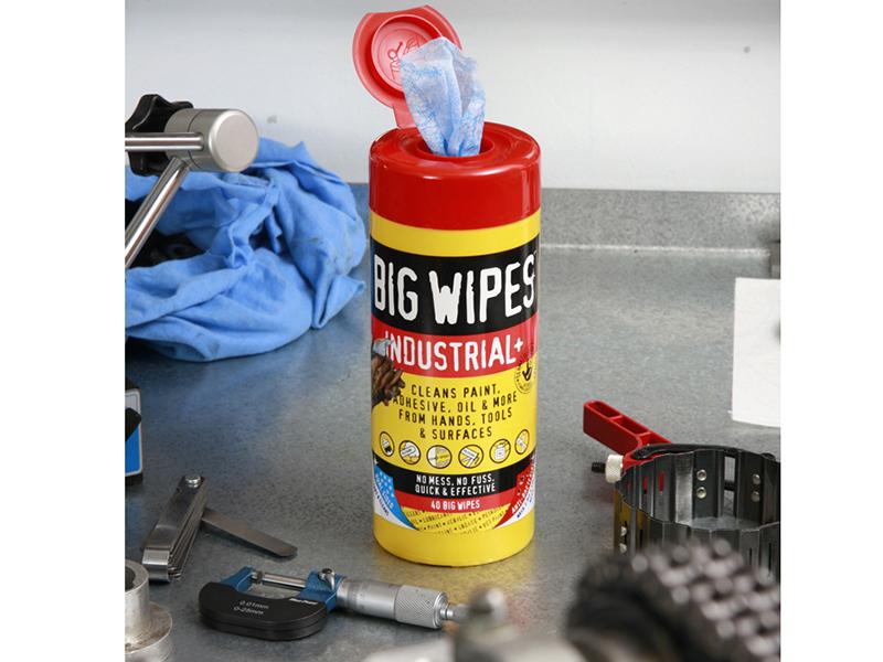 Thumbnail image of Big Wipes Scrub & Clean Wipes (Tub 40)