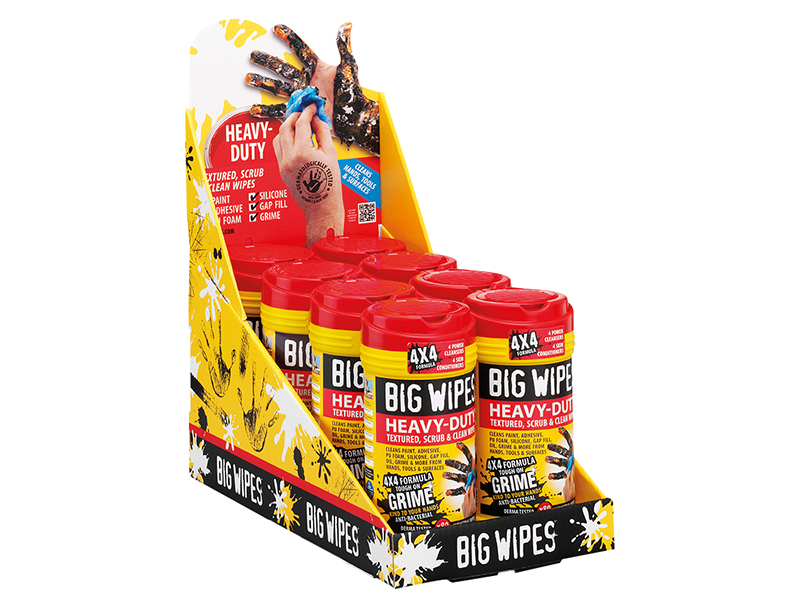 Thumbnail image of Big Wipes 4x4 Heavy-Duty Cleaning Wipes (Tub 80)