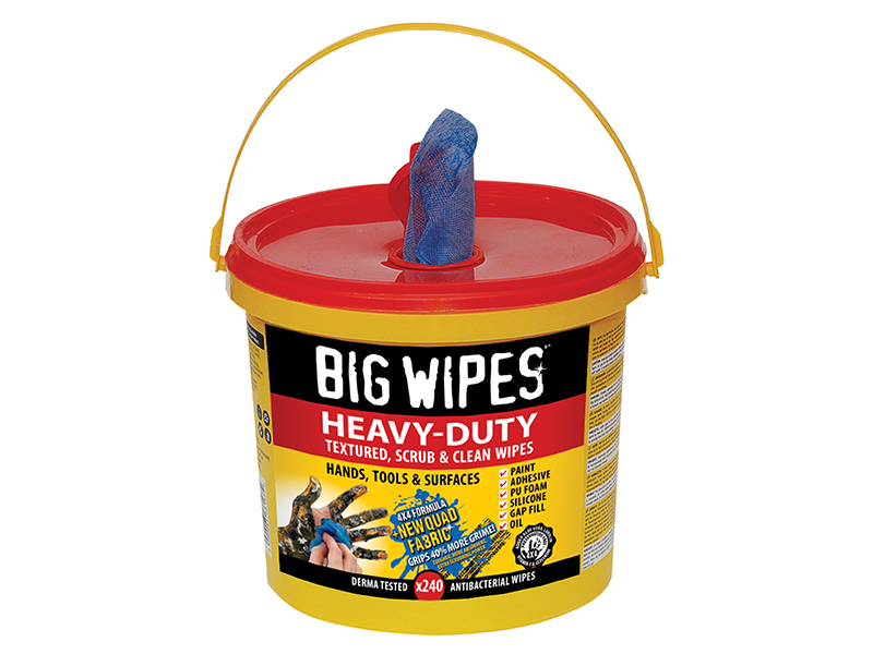 Thumbnail image of Big Wipes 4x4 Heavy-Duty Cleaning Wipes (Bucket 240)