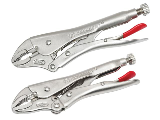 Thumbnail image of Crescent Curved Jaw Locking Pliers with Wire Cutter Set  2 Piece