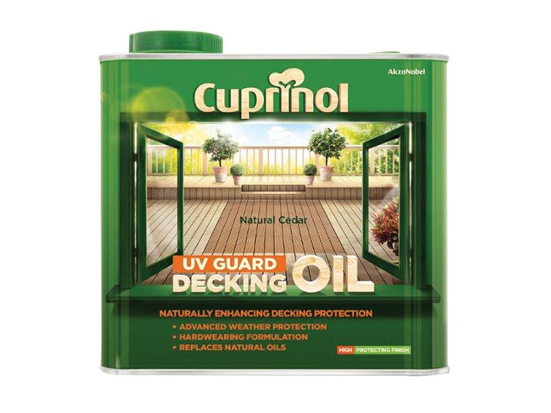 Thumbnail image of Cuprinol UV Guard Decking Oil Natural Cedar 2.5 litre