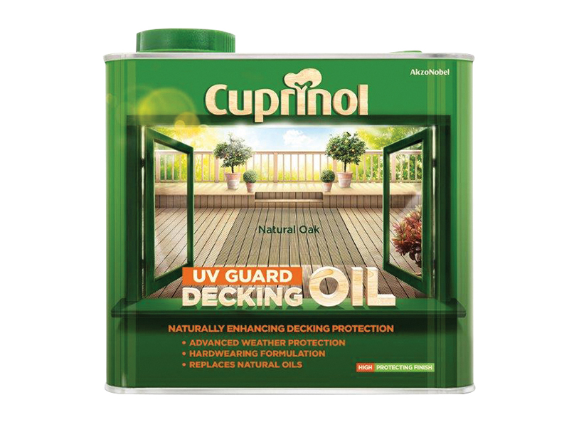 Thumbnail image of Cuprinol UV Guard Decking Oil Natural Oak 2.5 litre