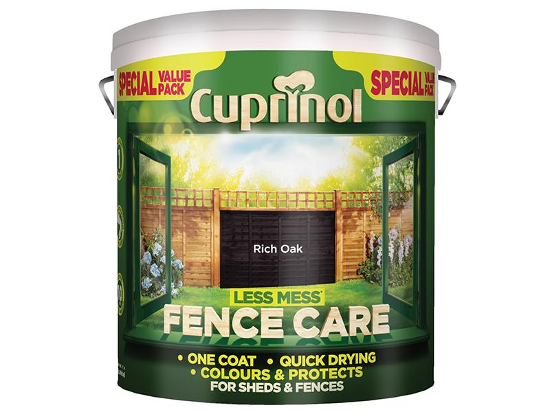 Thumbnail image of Cuprinol Less Mess Fence Care Rich Oak 6 litre