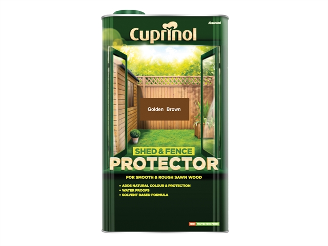 Thumbnail image of Cuprinol Shed & Fence Protector Gold Brown 5 litre