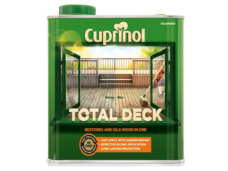 Thumbnail image of Cuprinol Total Deck Restore & Oil Wood Clear 2.5 litre