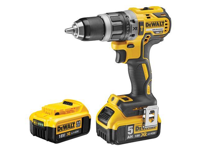 Thumbnail image of DeWALT DCD796PM XR Brushless Hammer Drill 18V 1 x 4.0Ah & 1 x 5.0Ah Li-ion