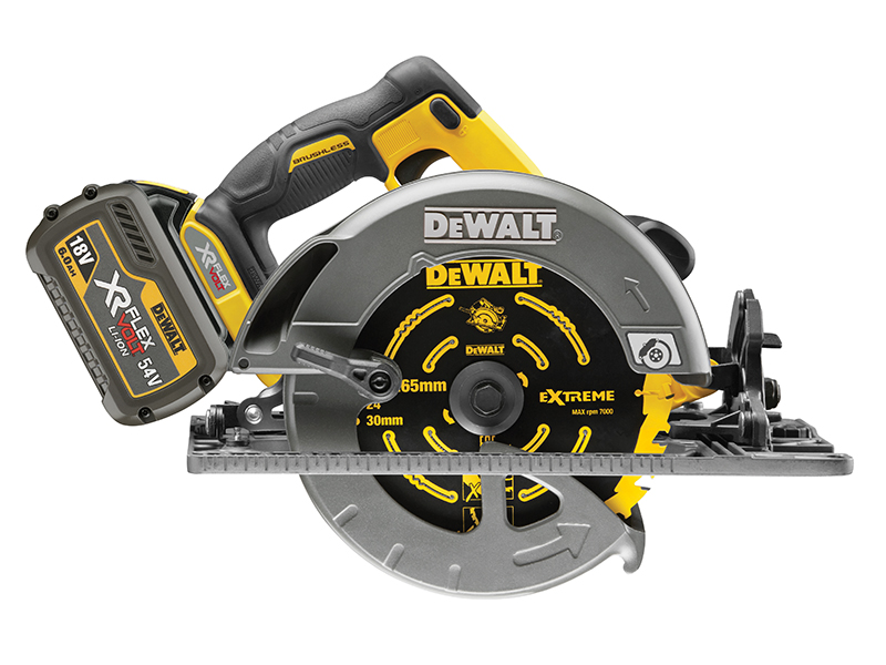 Thumbnail image of DeWALT DCS576T2 FlexVolt XR Circular Saw 190mm 54V 2 x 2.0Ah Li-ion
