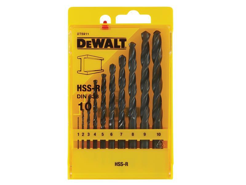 Thumbnail image of HSS-R Jobber Drill Bit Set 10 Piece: 1-10mm