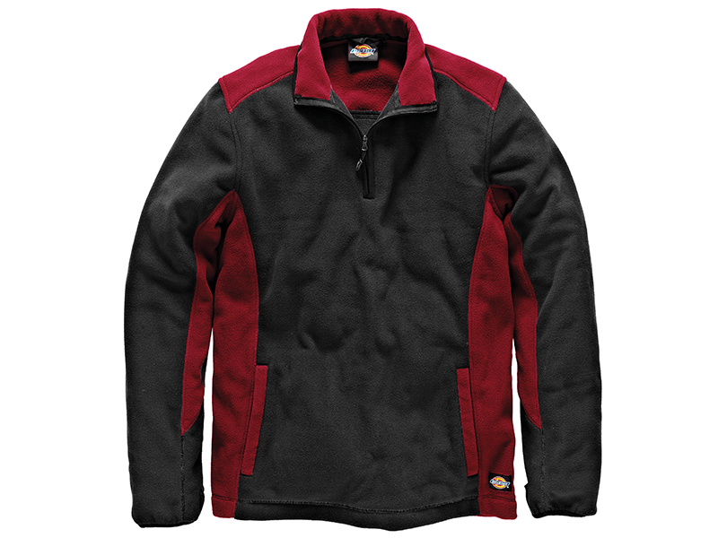Thumbnail image of Dickies Two Tone Red/Black Micro Fleece - L (44-46in)