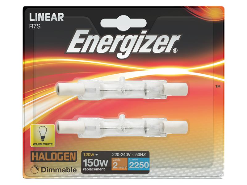 Thumbnail image of Energizer Halogen R7S 78mm Eco Linear Dimmable Bulb, 2250 lm 120W (Pack 2)