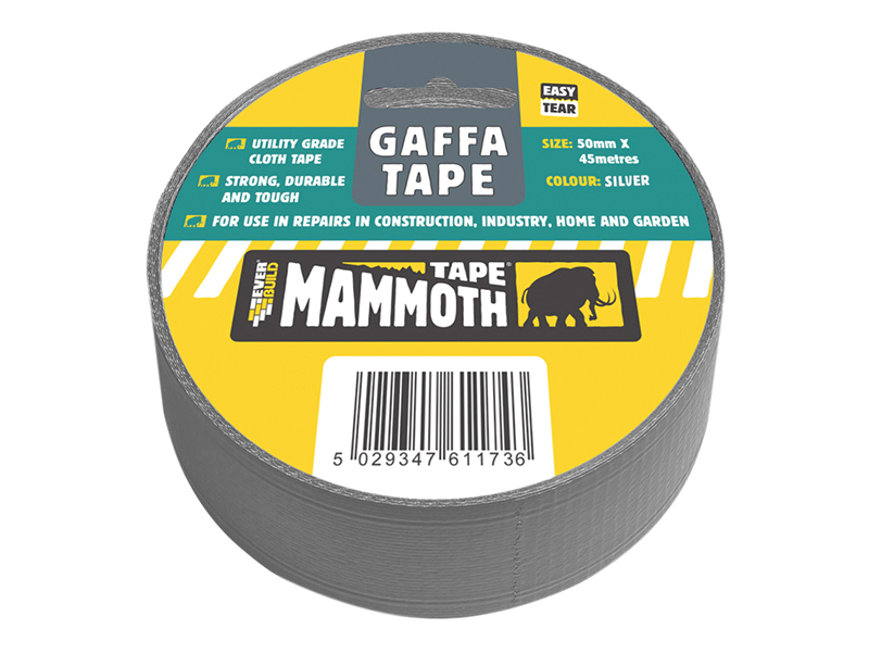 Thumbnail image of Everbuild Gaffa Tape 50mm x 45m Silver