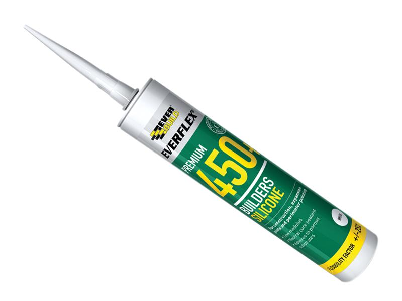 Thumbnail image of Everbuild 450 Builders Silicone Sealant White 300ml