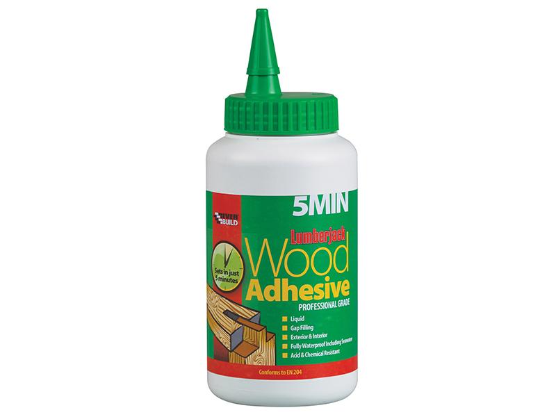 Thumbnail image of Everbuild Lumberjack 5min Polyurethane Wood Adhesive Liquid 750g