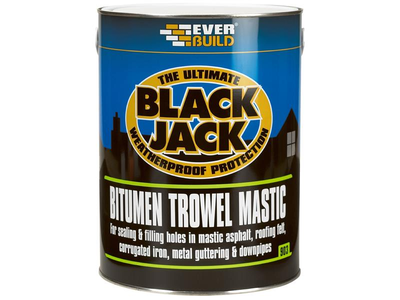 Thumbnail image of Everbuild Black Jack® 903 Bitumen Trowel Mastic 1 litre