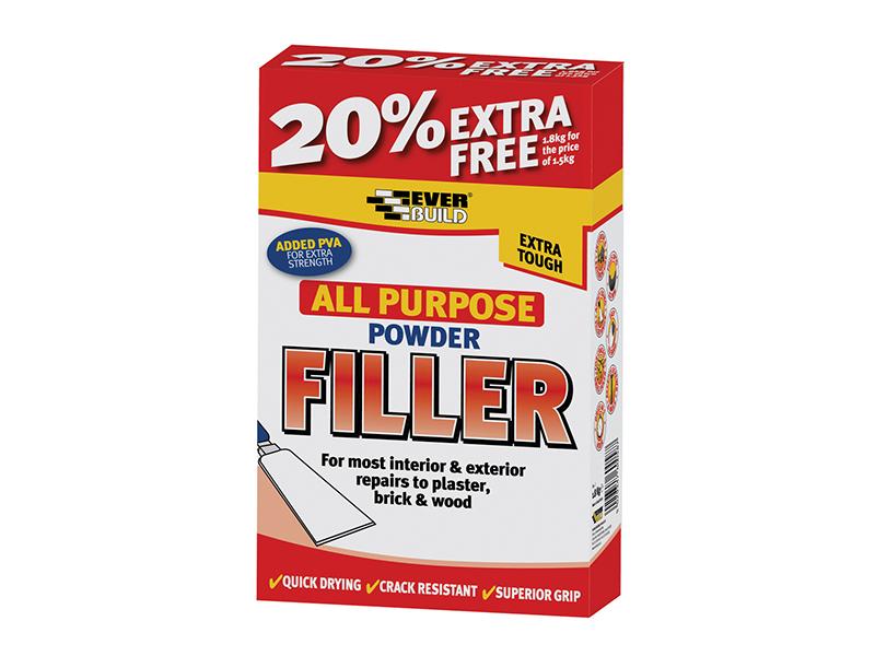 Thumbnail image of Everbuild All Purpose Powder Filler 1.5kg + 20% Free