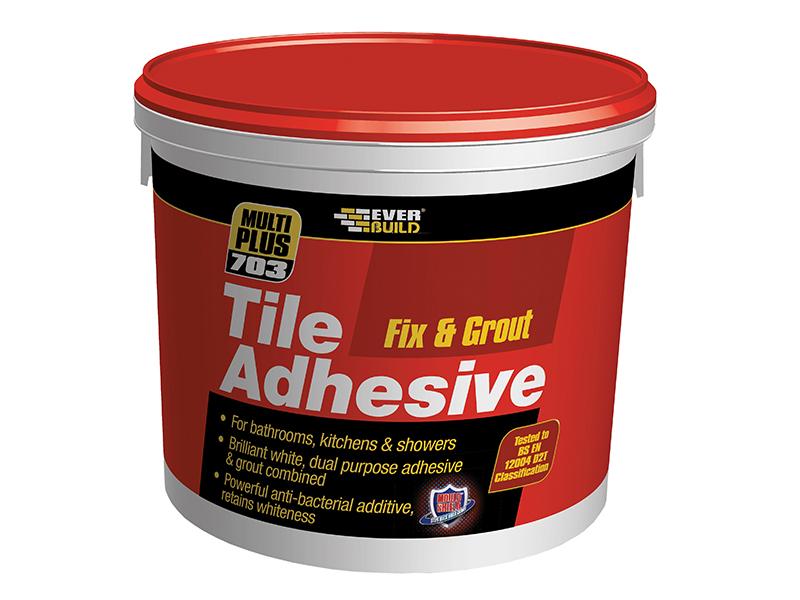 Thumbnail image of Everbuild 703 Fix & Grout Tile Adhesive 3.75kg