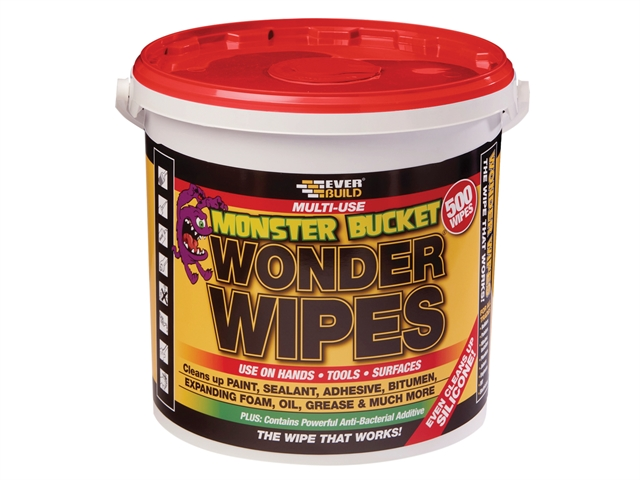 Thumbnail image of Everbuild Monster Wonder Wipes (Tub 500)