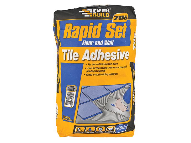 Thumbnail image of Everbuild 705 Rapid Set Tile Mortar 20kg