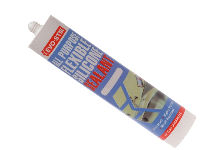 Thumbnail image of EVOSTIK 112896 All Purpose Flex Silicone Sealant Clear C20