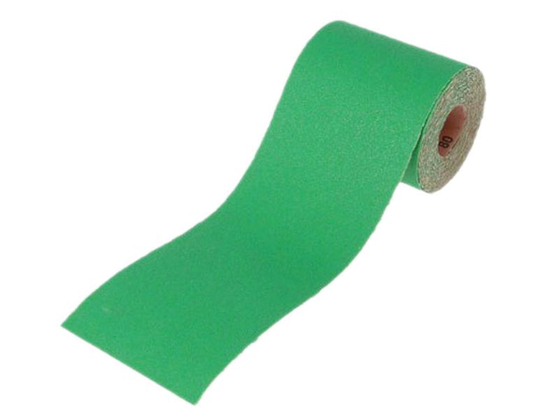 Thumbnail image of Faithfull Aluminium Oxide Sanding Paper Roll Green 115mm x 5m 80G
