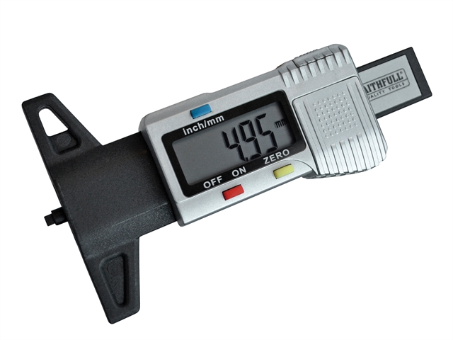 Thumbnail image of Faithfull Tyre Depth Gauge Digital Readout 0-25mm