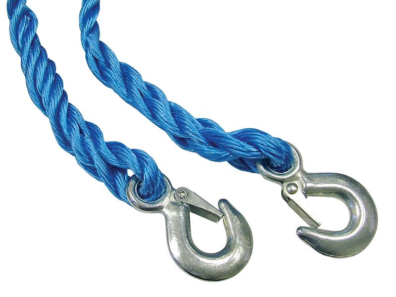 Thumbnail image of Faithfull Tow Rope 4m Metal Hooks 2 Tonne