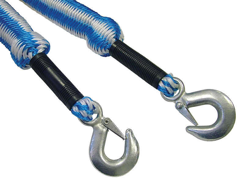 Thumbnail image of Faithfull Tow Rope Expanding 4m Metal Hooks 3 Tonnes