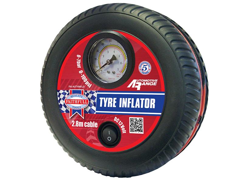 Thumbnail image of Faithfull Low Volume Tyre Inflator 12V