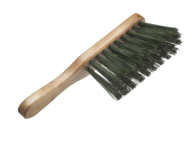 Thumbnail image of Faithfull Stiff Green PVC Hand Brush 275mm (11in)