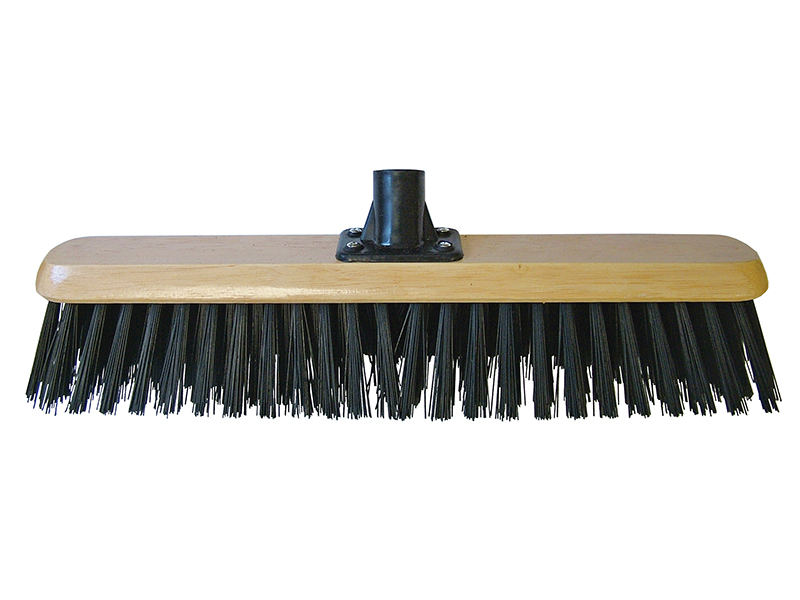 Thumbnail image of Faithfull Black PVC Platform Broom Head 450mm (18in) Threaded Socket