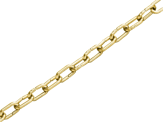 Thumbnail image of Faithfull Clock Chain Polished Brass 1.6mm x 10m