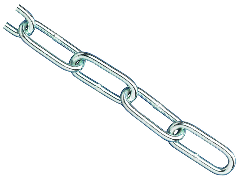 Thumbnail image of Faithfull Zinc Plated Chain 3mm x 2.5m - Max. Load 80kg