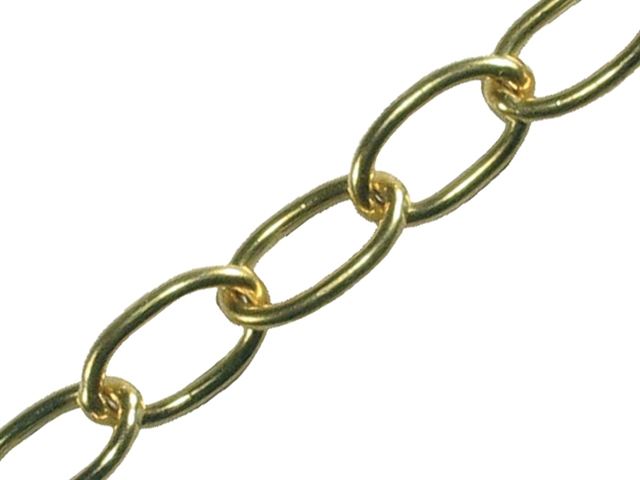Thumbnail image of Faithfull Oval Chain 1.8mm x 10m Polished Brass