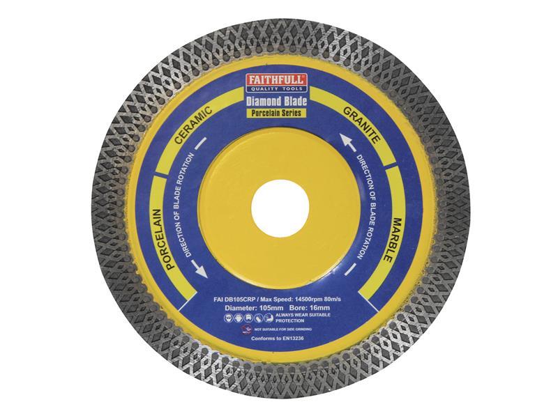 Thumbnail image of Faithfull Diamond Tile Blade Continuous Rim 105 x 16mm