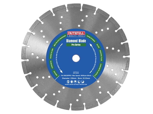Thumbnail image of Faithfull Professional Diamond Blade 230 x 22mm