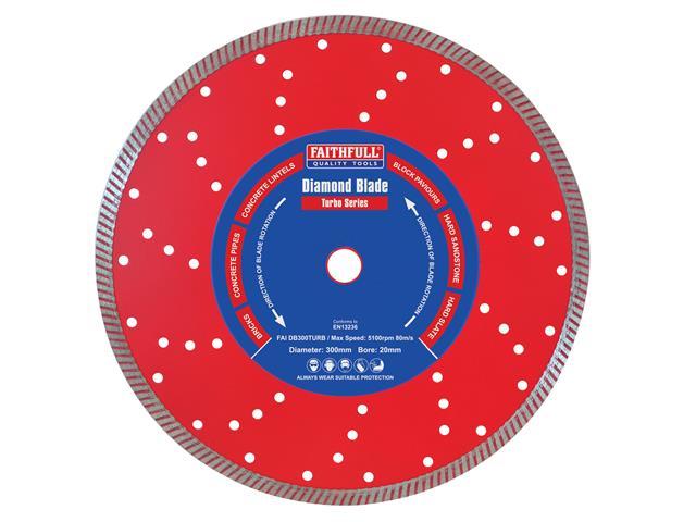 Thumbnail image of Faithfull Turbo Cut Diamond Blade 300 x 20mm